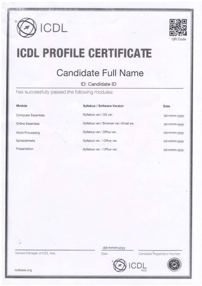 chứng chỉ ICDL được công nhận tại Việt Nam 3 IT4Work