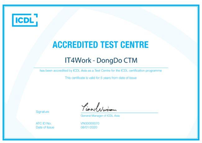 giới thiệu IT4Work chứng nhận hợp tác với ICDL 1