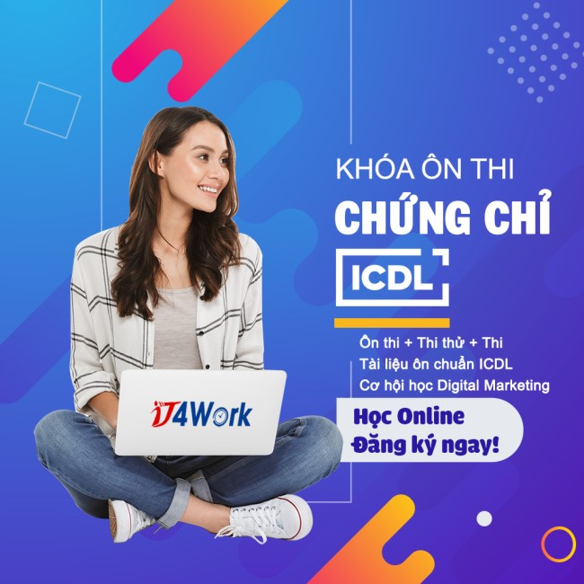 banner khóa ôn thi chứng chỉ tin học quốc tế ICDL tại IT4Work