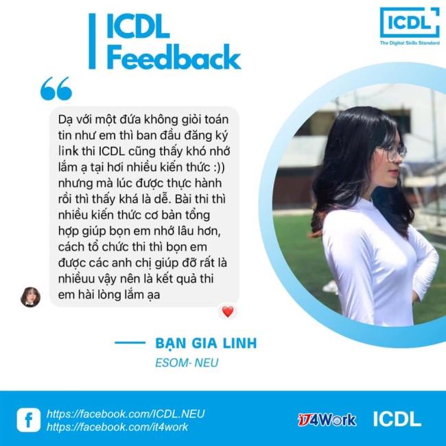 đánh giá của sinh viên về chứng chỉ tin học ICDL ảnh 6 tại IT4Work